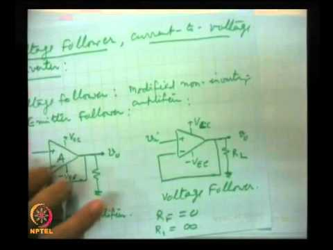 Mod-07 Lec-38 Operational amplifiers in open loop (Contd.)
