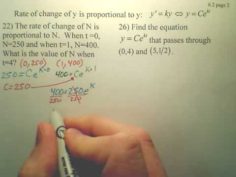 6.2b1 Differential Equations (Growth and Decay) - Calculus