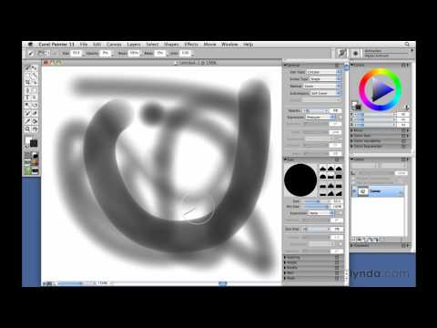 How to use Corel Painter's brush dabs | lynda.com tutorial