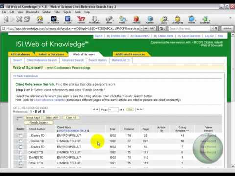 Web of Science - Citation Searching Tutorial