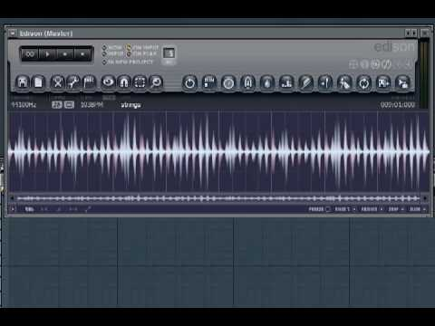 FL Studio - Edison WAV data to Piano Roll Notes