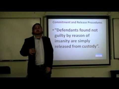 Eric Silk Insanity Defense and Competency Lecture 3
