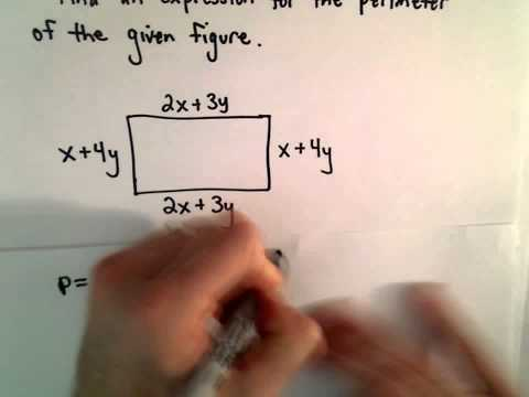 Finding an Algebraic Expression for the Perimeter of a Given Rectangle