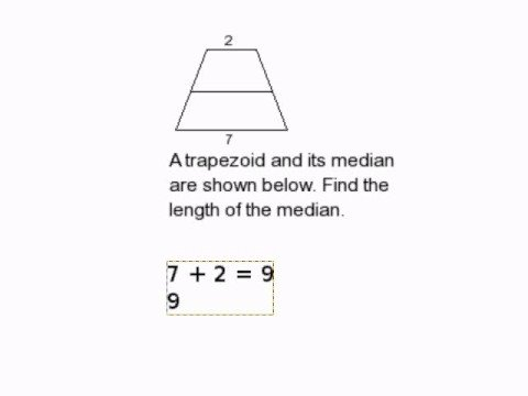 How to Find the Length of a Median in a Trapezoid