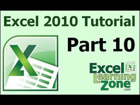 Microsoft Excel 2010 Tutorial - Part 10 of 12 - Basic Math 2