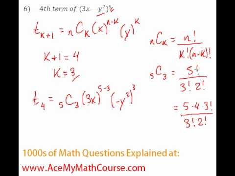 Binomial Theorem - Finding a Specific Term #6