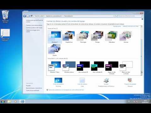 Curso de iniciación a  Windows 7 - 23 - Configuración de pantalla