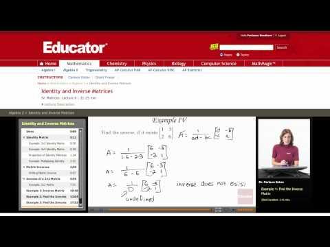 Algebra 2: Inverse Matrix