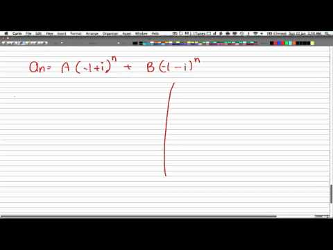 Discrete Math 2 -Tutorial 27 -Complex Root Recurr Relation 1