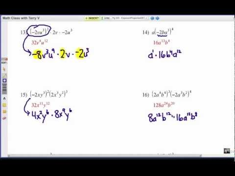 How to Apply Exponent Rules: Problem Set 4