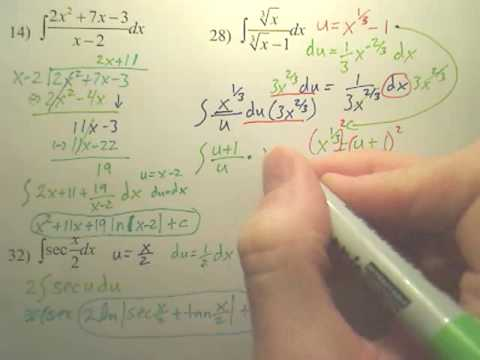 5.2 Natural Logarithmic Integration Practice A2 - Calculus