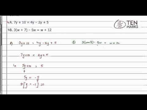 Solve Linear Equations with Variables on Both Sides