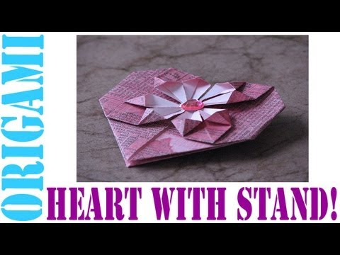 Origami Daily - 187: Decorative Heart With a Stand (Valentine's Day) - TCGames [HD]