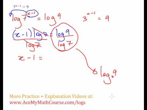 Exponential Equation - Solving with Logs Example #2