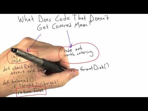 Code Not Worth Covering - Software Testing - Coverage Testing - Udacity