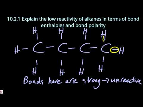 10.2.1 Explain the Low Reactivity of Alkanes IB chemistry SL