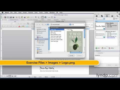 Microsoft Word: How to use the Scrapbook | lynda.com tutorial