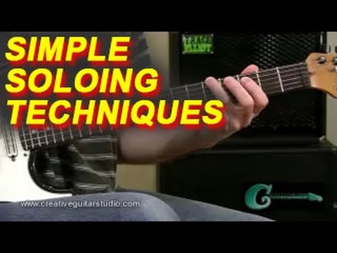 Guitar Lesson: Simple Soloing Techniques