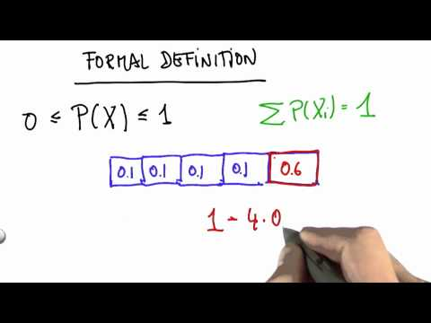 Formal Definition Of Probability 3 Solution - CS373 Unit 1 - Udacity