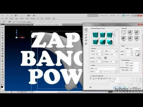 Photoshop CS5: How to create I-beam extrusions | lynda.com tutorial