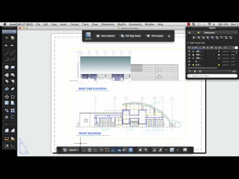 Print a Drawing Layout: AutoCAD LT 2013 for Mac