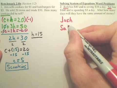 Benchmark 2b - Algebra 2
