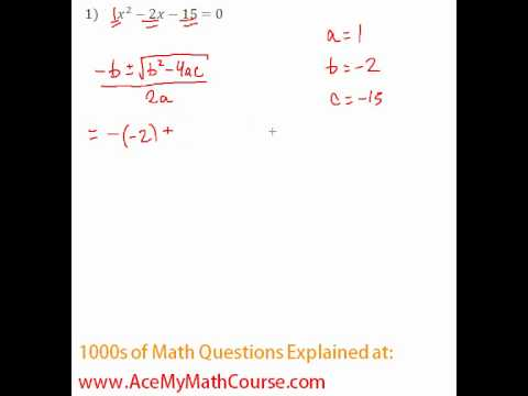 Quadratic Formula #1