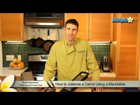 How to Julienne a Carrot Using a Mandoline