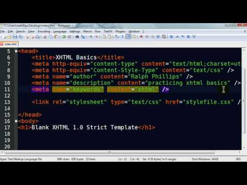 XHTML Basics - Part 1 of 3