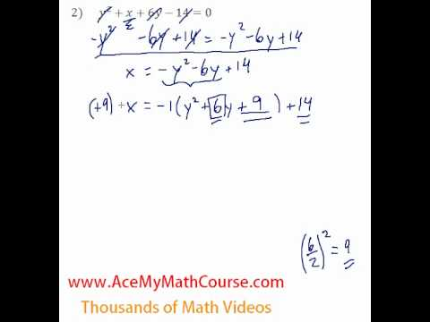 Conics - General to Standard Form #2