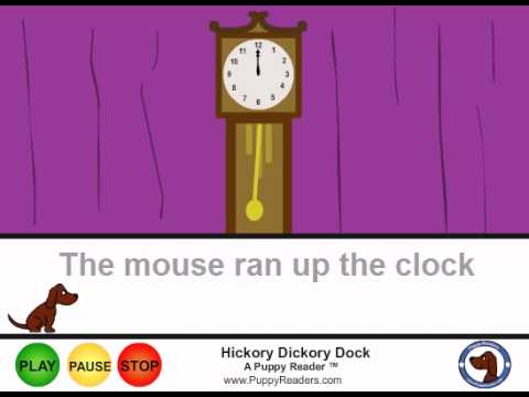 Hickory Dickory Dock:  Animated Nursery Rhyme for Kids