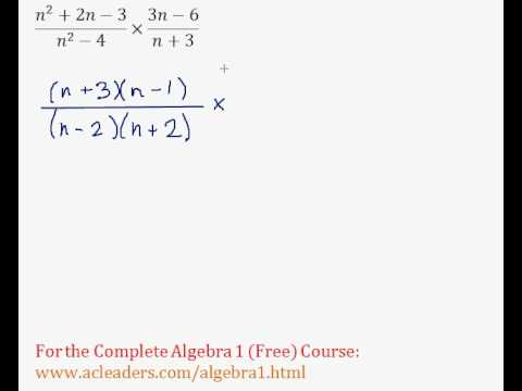 (Algebra 1) Rational Expressions - Multiplying & Simplifying