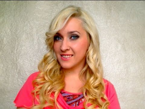 How to curl hair with a curling iron Damaged layered hairstyles for very long hair Big loose waves