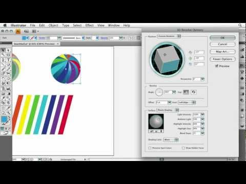 Adobe Illustrator CS4 Advanced Create a Sphere