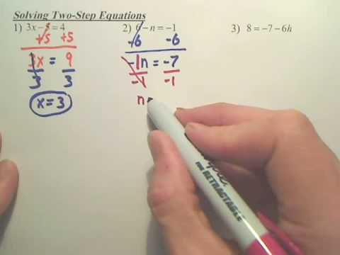 Solving 2 Step Equations - Algebra 1