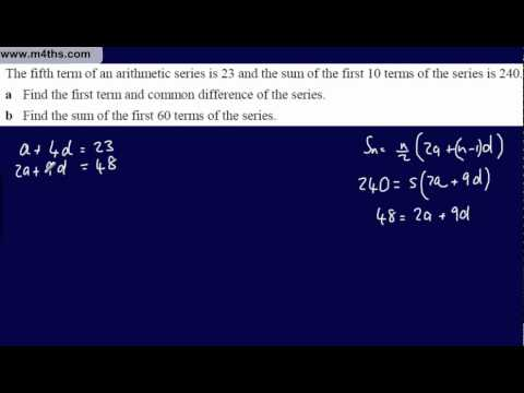 (4) Core 1 Arithmetic Sequences & Series (More Summing basic series 2)