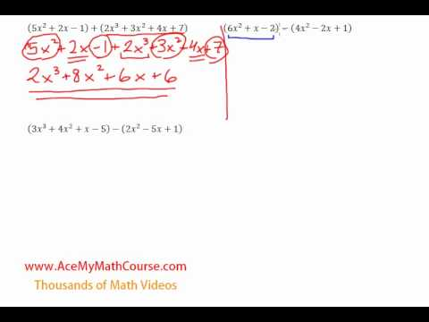 Adding and Subtracting Polynomials - Introduction