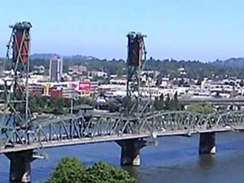 Willamette River and Mt Hood, Portland Oregon