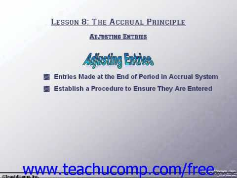 Accounting Tutorial Adjusting Entries Training Lesson 8.5