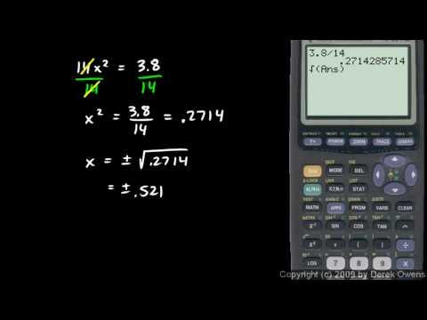 Algebra 1 11.5e - Examples