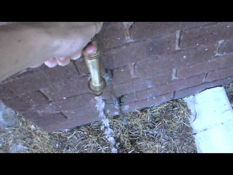 How To Turn on a Outside Tap