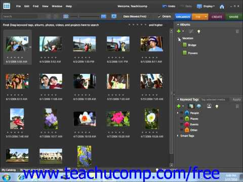 Photoshop Elements 9.0 Tutorial Managing Albums/Collections Adobe Training Lesson 2.8