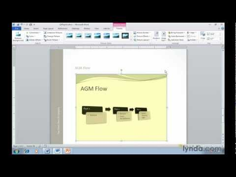 Word 2010: How to insert screen shots | lynda.com tutorial