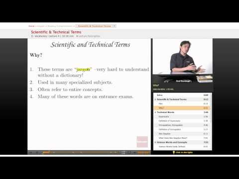 Reading Comprehension: Scientific & Technical Terms