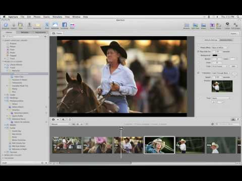 Aperture 3 Tutorials : 6.2 - Showcasing Work - Creating Slideshows with Audio and Video