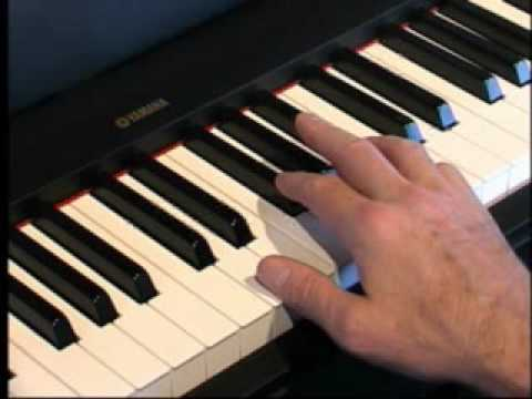 Piano Lesson -  How to play Major Chords & Triads using the white keys