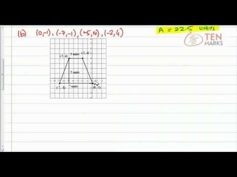 Area on a Coordinate Graph (Rectangles & Triangles)