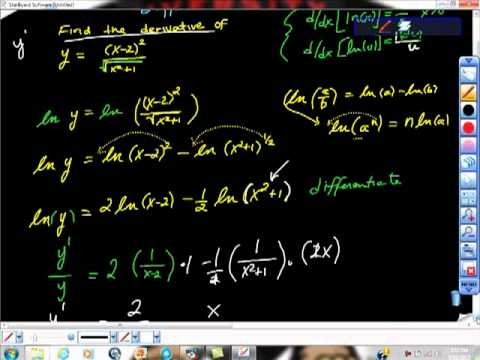 Natural Logarithmic Function Differentiation AP Calculus