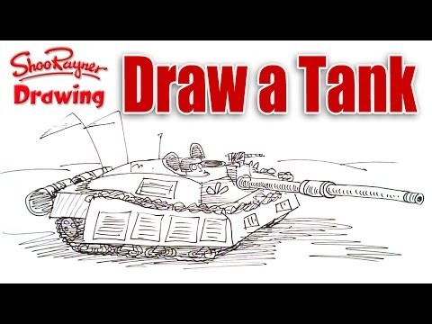 How to draw an army battle tank - Shoo Rayner Drawing School