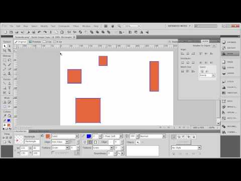 Introduction to Adobe Fireworks CS5 - Part 4 - Aligning and Spacing Objects